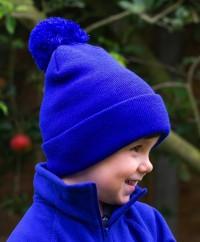 Otroška kapa z cofom Kid's Beanie